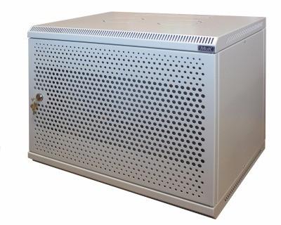Шкаф настенный МиК 15U, 600*450*760, BASIS, серый, дверь-перфорация