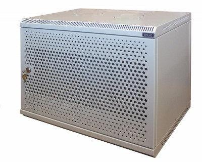 Шкаф настенный МиК 15U, 600*450*760, BASIS, серый, дверь-перфорация, фото 2