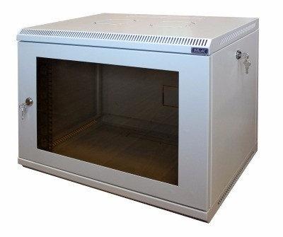 Шкаф настенный МиК 6U, 600*600*360, KEYS, серый, дверь-стекло, фото 2
