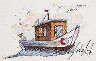 "Набор для вышивания крестом ""Рыбацкая лодка"""