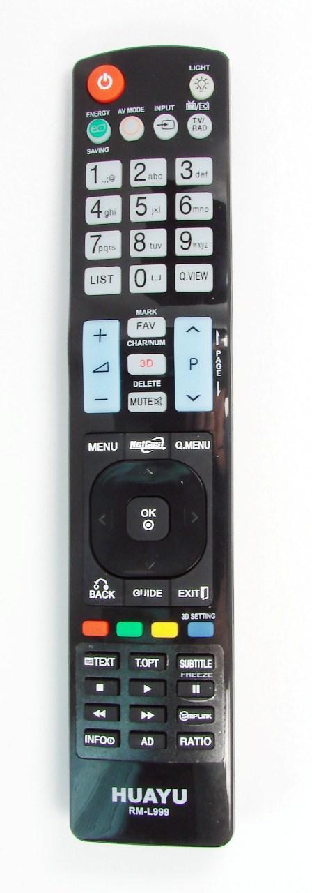 Пульт для телевизора LG (HUAYU) RM-L999 (LCD+3D+Light) универсальный