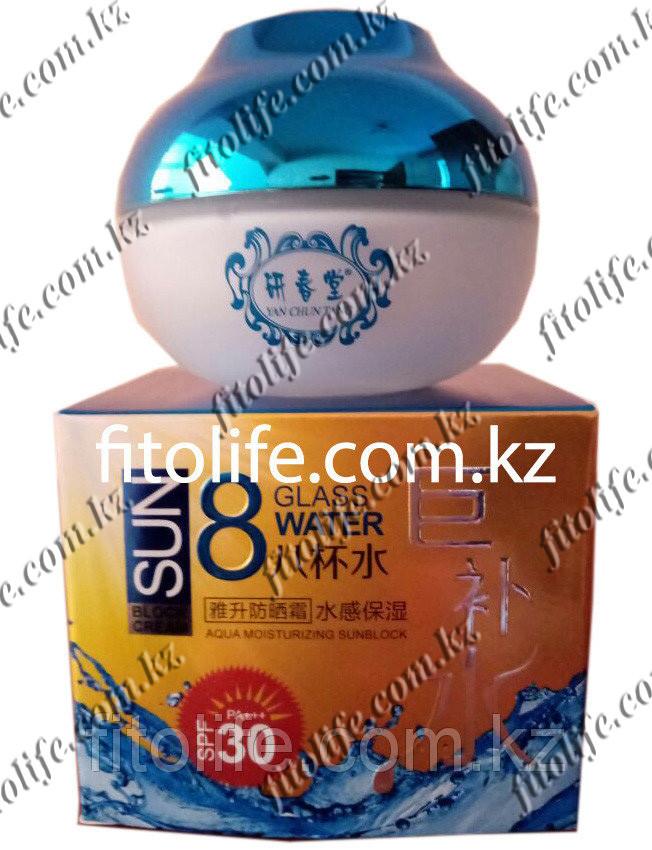 "Увлажняющий,отбеливающий,солнцезащитный крем для лица ""Yan Chun Tang"" SPF 30"