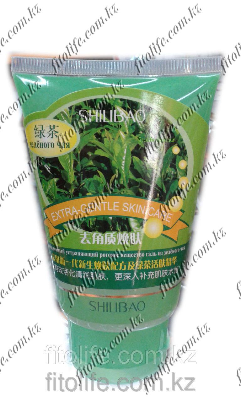 Скраб для удаления рогового слоя Shilibao, с зеленым чаем
