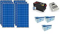 Автономная солнечная электростанция 6,8 кВт*ч в сутки (1.5 кВт в час) 24 В, фото 1