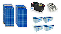 Автономная солнечная станция 9 кВт*ч в сутки (2 кВт в час) 24 В, фото 1