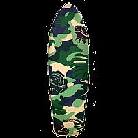 """Наждак-самоклейка антискользящая """"Camouflage"""" для деревянного скейта рыбки 27 дюймов (Penny)"""