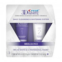 Отбеливающая система Crest 3D White Brilliance Daily Cleansing Toothpaste and Whitening Gel System