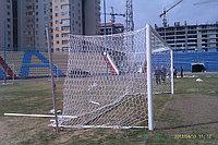 Футбольные ворота профессиональные алюминиевые овал 100*120 мм с пазом для крепления сетки