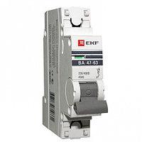 Автоматический выключатель ВА 47-63, 1P 6,10,16,20,25  А(С) 4,5kA EKF PROxima