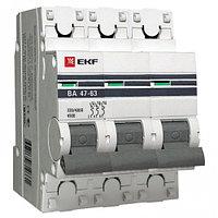 Автоматический выключатель ВА 47-63, 3Р 6,10,16,20,25А (C) 4,5kA EKF PROxima