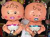 Фольгированный шар Малыш Мальчик Девочка 90 см в Павлодаре