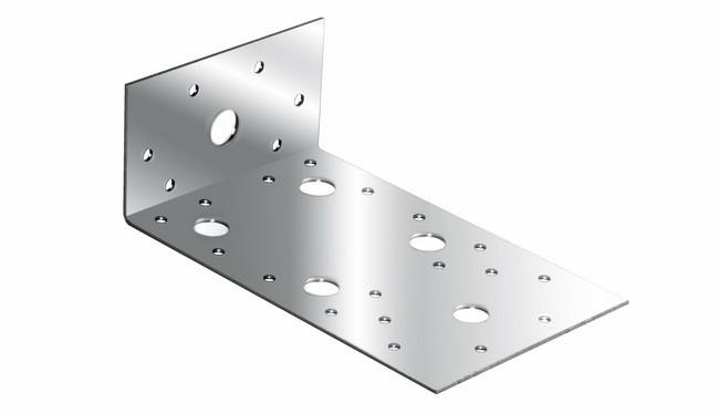 (46448) Крепежный уголок ассиметричный  2,0 мм,  KUAS 130x50x65 мм// СИБРТЕХ//Россия