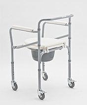 """Кресло-коляска с санитарным оснащением для инвалидов """"Armed"""" FS696 , фото 2"""
