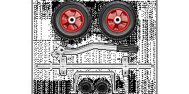 Набор ЗУБР: Колеса и рукоятка для электростанций мощностью до 3500Вт