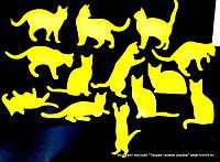 Трафарет кошки для рукоделия и творчества (размер 10*15см.)
