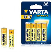 Батарейка Varta SUPERLIFE Mignon пальчиковые AA R6, 1.5V, 4 шт./уп, цена за упаковку