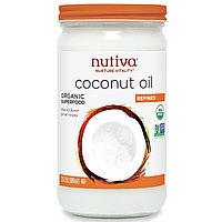 Nutiva, Органическое кокосовое масло, РАФИНИРОВАННОЕ,  (680 мл). Для еды  и в косметических целях.