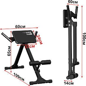 Скамья для мышц спины Гиперэкстензия Leco Starter до 100 кг. доставка, фото 2