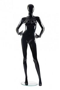 Манекен матовый черный