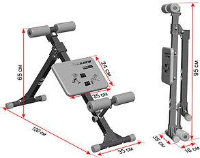 Скамья для пресса и мышц спины Leco-IT Home до 120 кг доставка, фото 2