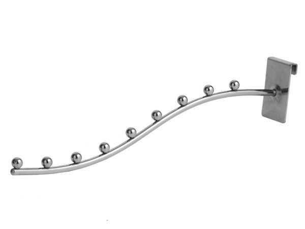 Крючок белый на сетку, 10 см