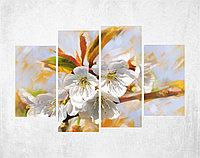 Модульная картина Цветы яблони, фото 1