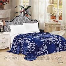 Плед на кровать, велсофт. 220х240 см