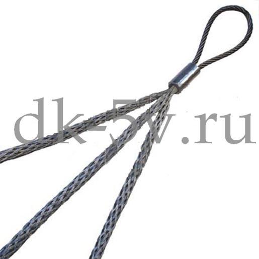 КЧ20/3, Тройной кабельный чулок для 3х кабелей, ⌀10-20мм, L=1000мм, 1 петля