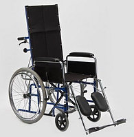 Кресло-коляска с высокой спинкой, сиденье-нейлон Н 008 (ширина 46, фото 1