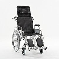Кресло-коляска с высокой спинкой сиденье -кож.зам. FS954GC-46., фото 1