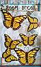 """Набор наклеек """"Бабочки"""" 3D, желто-коричневые, 6шт."""