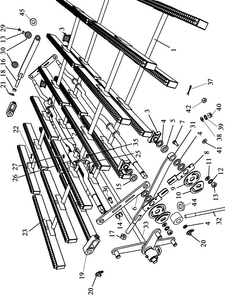 ЗВТ 87.000 Механизм очистки решет (верхнего и нижнего станов)