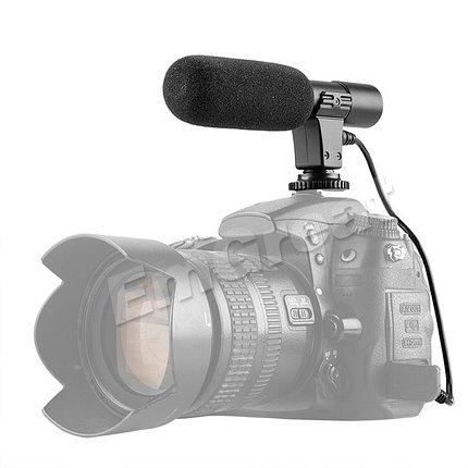 Накамерный микрофон MIC-01 мини для Canon/ Nikon от ISHOOT, фото 2