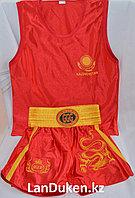 Кикбоксерская форма GF-00158R (майка+шорты)