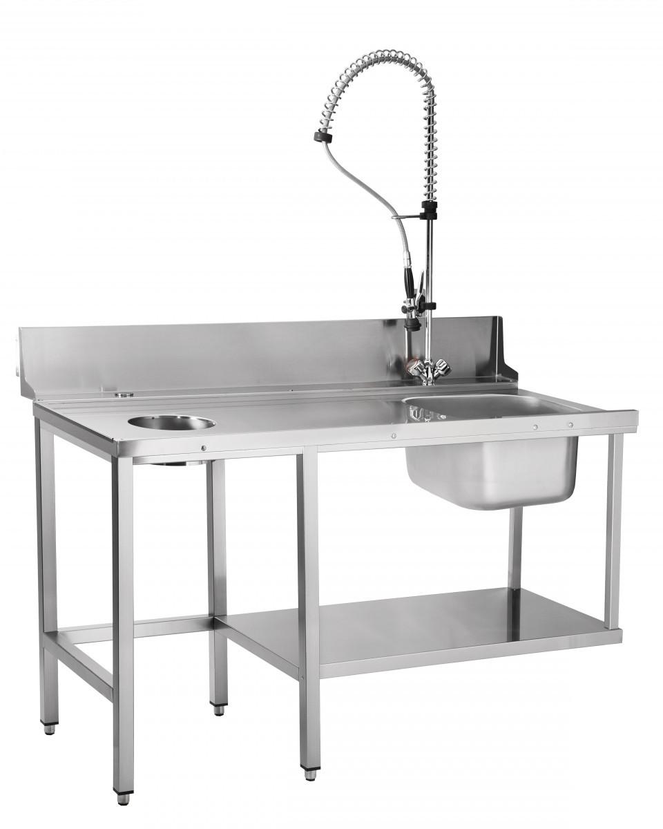 Стол предмоечный СПМП-6-5 для купольных посудомоечных машин