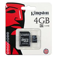 Карта памяти Kingston microSDHC Class 4 4Gb