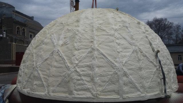 Утепление купола мечети 3