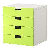 Комод для хранения СТУВА белый/зеленый ИКЕА, IKEA, фото 1