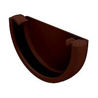 Заглушка желоба универсальная, коричневый, Holzplast