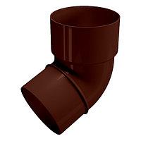 Колено трубы водостока 67°, коричневый, Holzplast