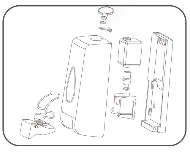 диспенсер для наливного жидкого пенного мыла
