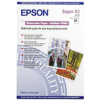 Фотобумага A3 Epson C13S041352 20 Л. 190 Г/М2 Water Color -Radian White A3+