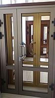 Алюминиевые двери теплая серия