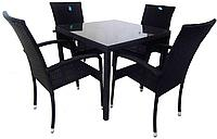 """Ротанговая мебель """"Комплект обеденный стол + кресла"""""""