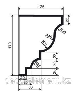 Карниз фасадный К 170\3, фото 2