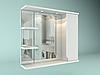 Шкаф навесной с зеркалом Лотос 650 мм 1 дверь+ 2 полки