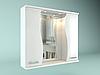 Шкаф навесной с зеркалом Орхидея 700 мм 2 двери
