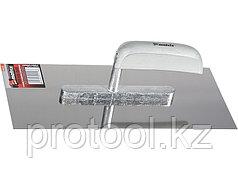 Гладилка из нержавеющей стали, 280 х 130 мм, деревянная ручка// MATRIX