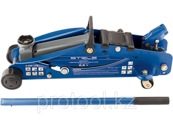 Домкрат гидравлический подкатной с фиксатором, 2,5т SAFETY PIN, 140-385 мм, в кейсе// STELS, фото 2