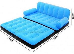 Надувной диван - кровать Bestwey 67356 Оранжевый, фото 2